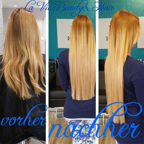 Beispiel Haarverlängerung